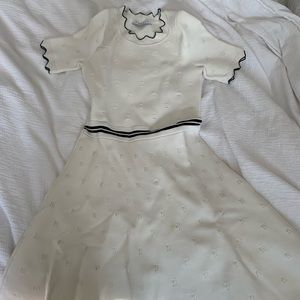 Sandro Black and White Dress